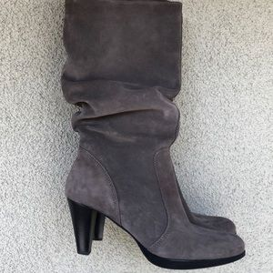 La Canadienne Mercedes suede slouch boots